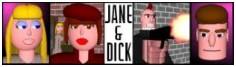 Jane & Dick comic - Shoot first, take shorthand later!. - Kinda experimental. The novella that wouldn't work, but seemed to adapt OK into a comic. Only did 3 pages before prose wanted to take over again, though. - ON HIATUS